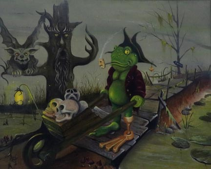 Froggy's Infreno - Oil on Canvas by William C. Turner
